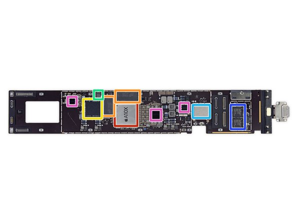 Apple APL1071 Apple A10X Fusion chip with 64-bit architecture and embedded M10 coprocessor
