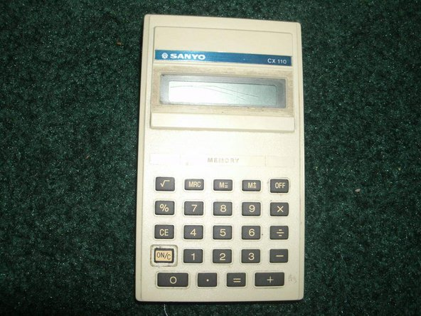 Here is the Sanyo CX 110 calculator.
