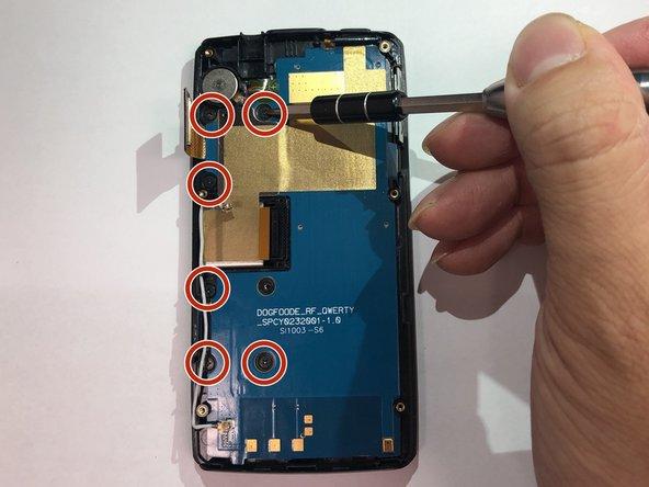 Remove six 1mm PH00 screws.