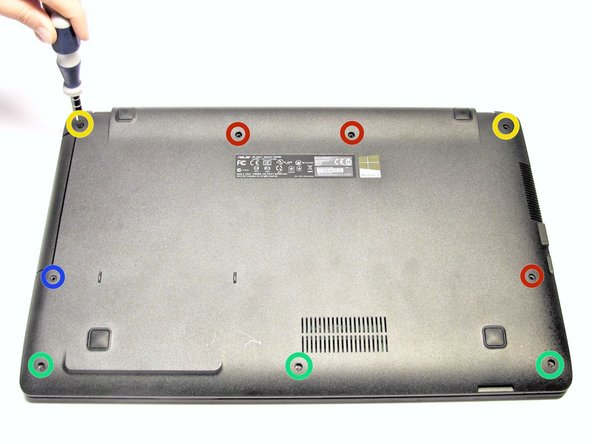 Image 1/1: Remove the two 4.3 mm Phillips #0 screws from the upper corners of the case with the Phillips #0 Screwdriver.