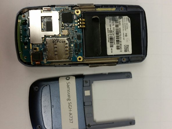 Using the screwdriver, unscrew the six visible screw drivers on the back of the phone.