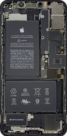 iPhone XS Max internals wallpaper