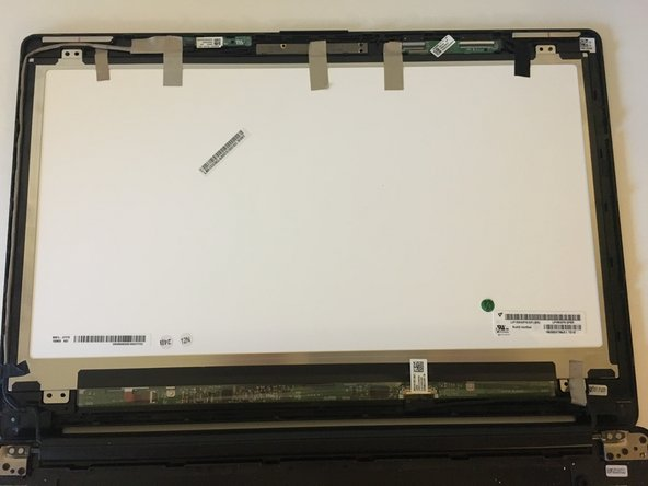 Remove any tape that is holding the screen in place.