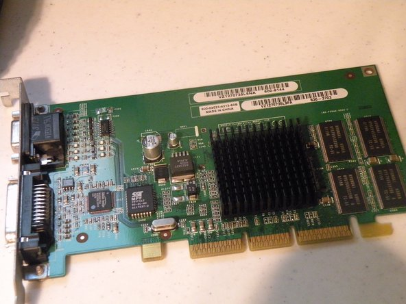 The Quicksilver came standard with this card, a 32MB NVIDIA GeForce 2MX AGP Mac Edition, this card supports the ADC Displays like the one we took apart last week.