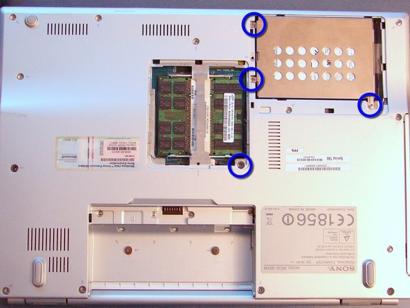 Remove the covers for HDD and RAM. Just unscrew it and carefully pull the lids.