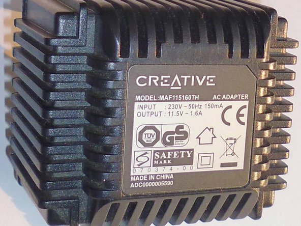 creative ac adapter model maf115160th