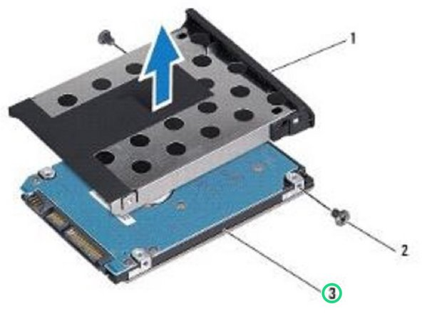 Lift the hard drive bezel off the hard drive.