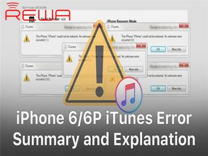 iPhone 6/6 Plus iTunes Error Codes Quick Fix