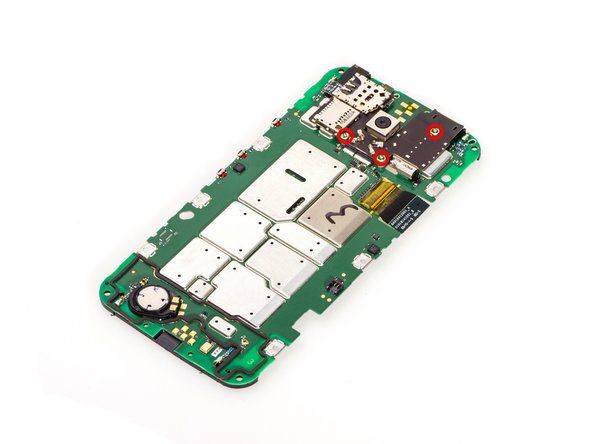 Image 1/3: Use spudger to cut adhesives and pry the SIM&SD card reader board, then remove it.