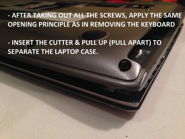 Opening the case is easy, follow the steps as shown.