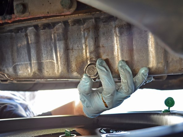 Watch the draining oil for shiny specks. Metal flakes in the oil could mean that there is a serious problem with your engine internals.