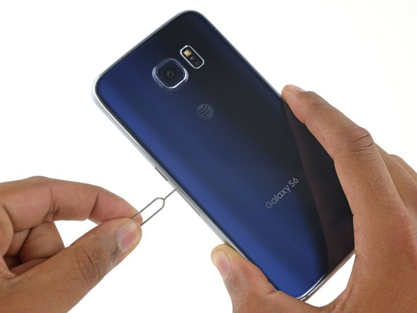 Aftermarket Blue Rear Glass for Samsung Galaxy S6 Edge with Glue Card