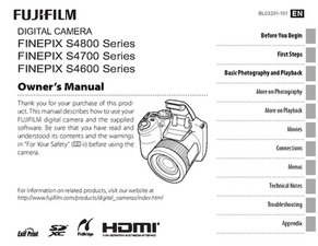 Fujifilm FinePix S4600 S4700 S4800 Manual