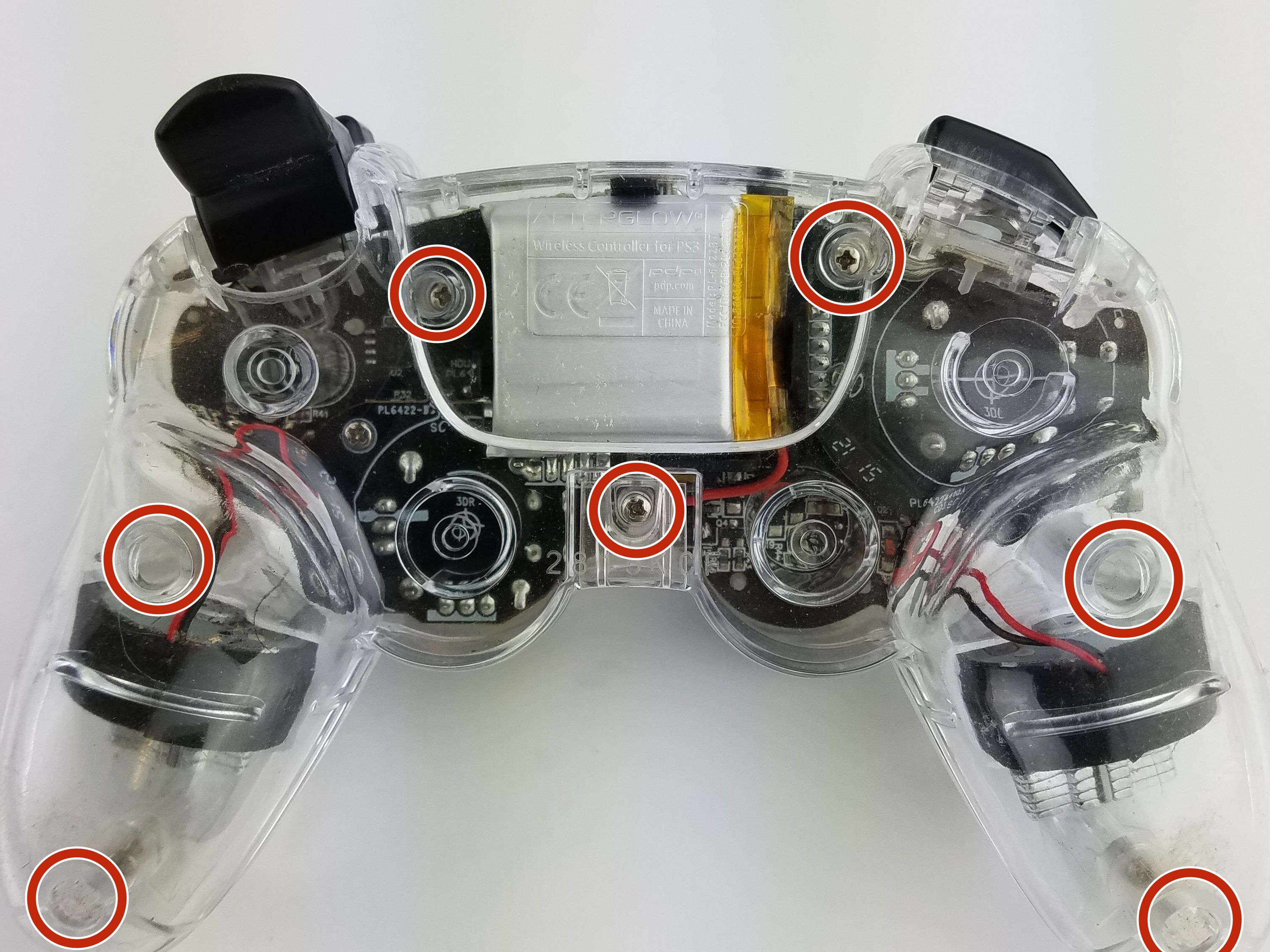 Afterglow Wireless Ps3 Controller Repair Ifixit Usb Wiring Diagram Back Cover