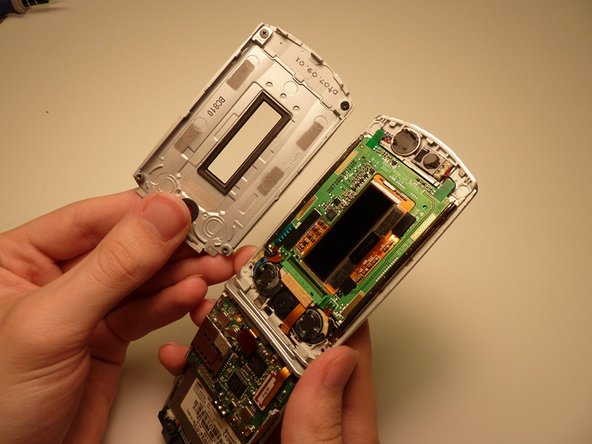 Remove front casing from the cell phone.