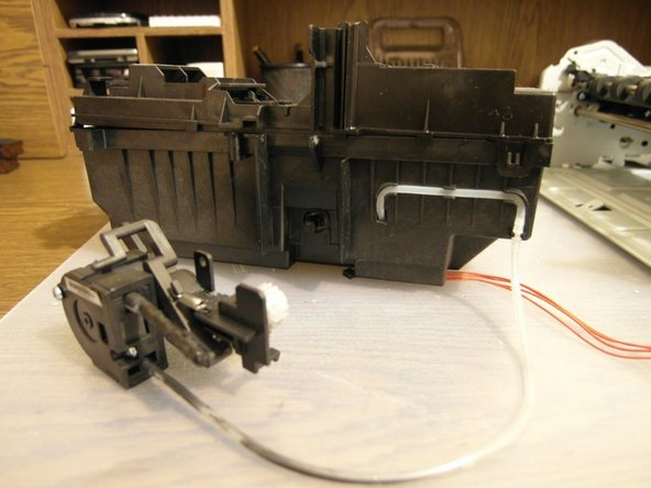 At the final step, we are discovering an air pump for the print head cleaning mechanism. It's surprising!