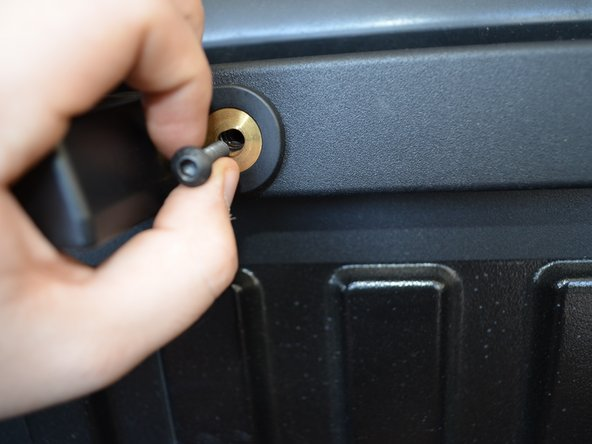 Hand tighten the bolts.