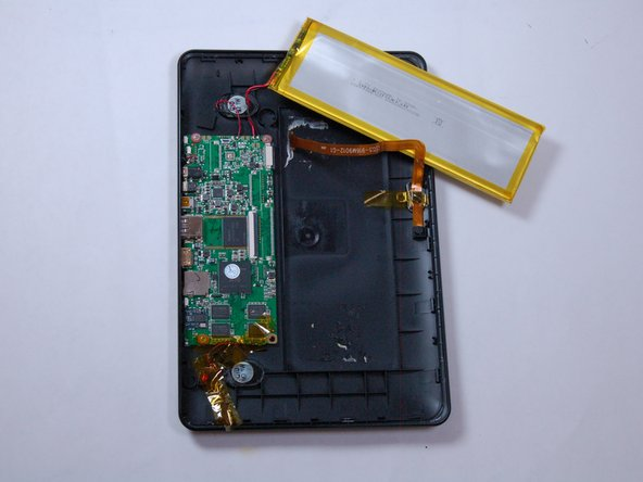 Then, remove the battery from the back cover by using the wedging tool.