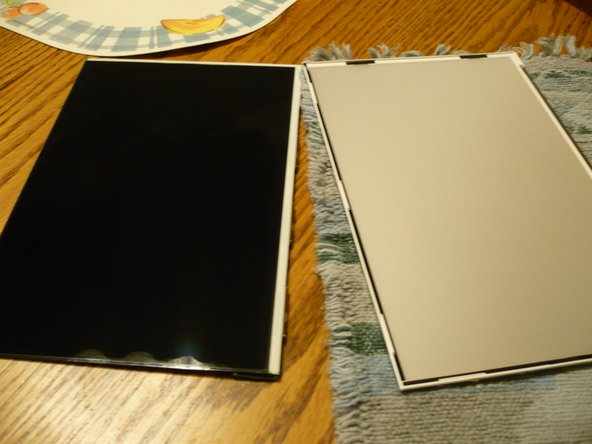 Pic 1 - LCD (left)  backlight panel (right)