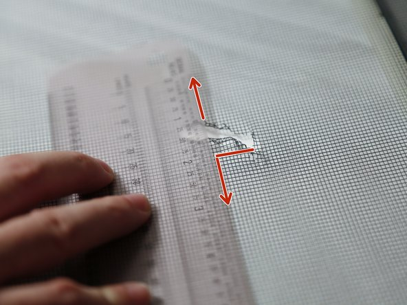 Make note of these measurements as they will be the required size of your patch.