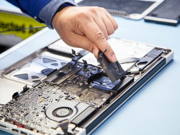 Image 2/3: '''Multilayered high population logic board located within latest electronic devices are prone to flex damage, which causes cold solder joint appearance. Any kind of flexing or mishandling of the PCB should be avoided.'''