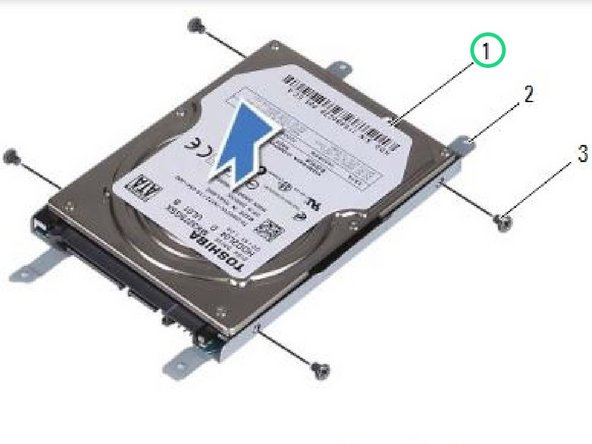 Lift the hard drive away from the hard-drive bracket.