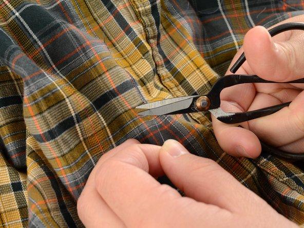 余分な糸を切ります。