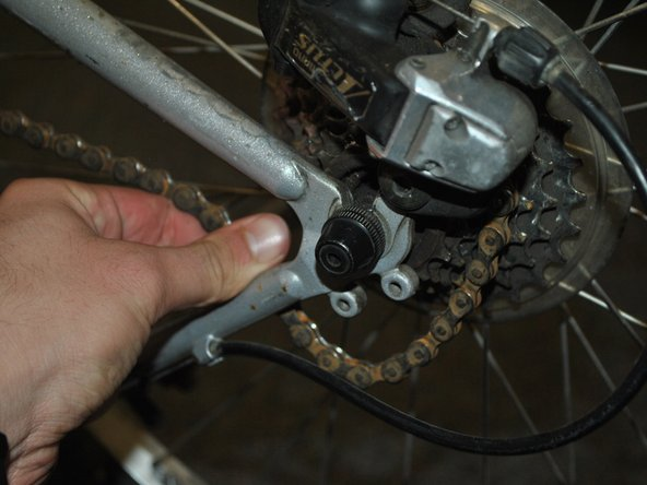 Remove chain from sprocket.