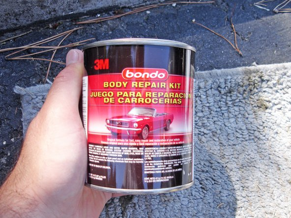 bondo spot putty instructions