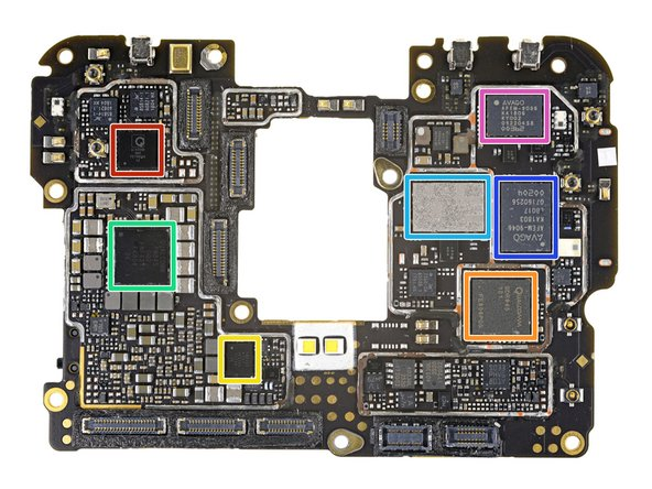 Next we flip the board and check out the rest of its chips:
