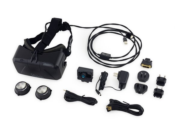 The Oculus Rift Development Kit 2 wouldn't be a complete piece of developer hardware without its assortment of cables, adapters, and accessories.