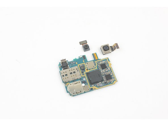The modular front- and rear-facing cameras come with the motherboard, but the headphone jack is soldered to the board and not going anywhere.