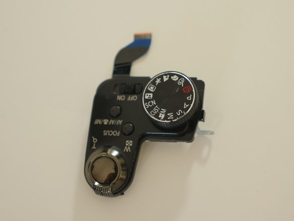Pull out Top control panel from camera body