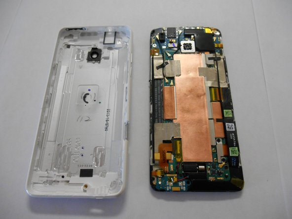 Remove the rear case from the phone.