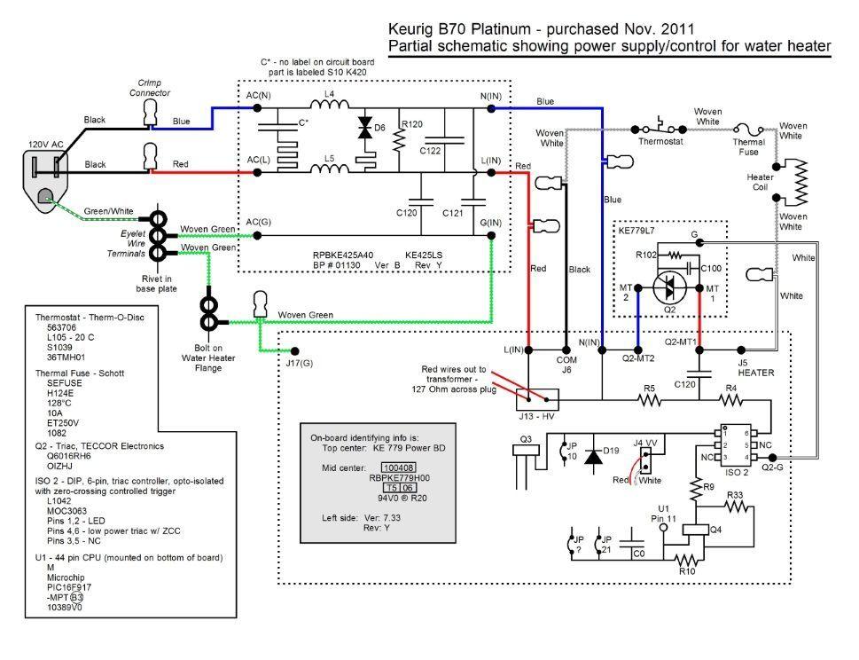 solved coffee machine fry transformer keurig b60 ifixit parts rh auto portal org keurig k40 wiring diagram keurig coffee maker wiring diagram