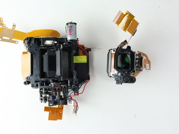 Remove the viewfinder from the mirror box assembly.