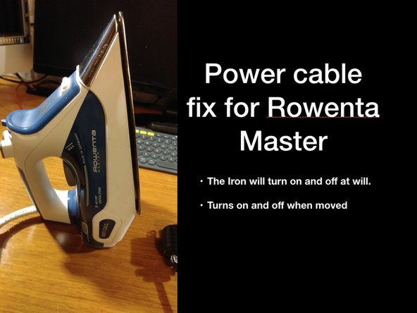 Rowenta Master steam iron Disassembly