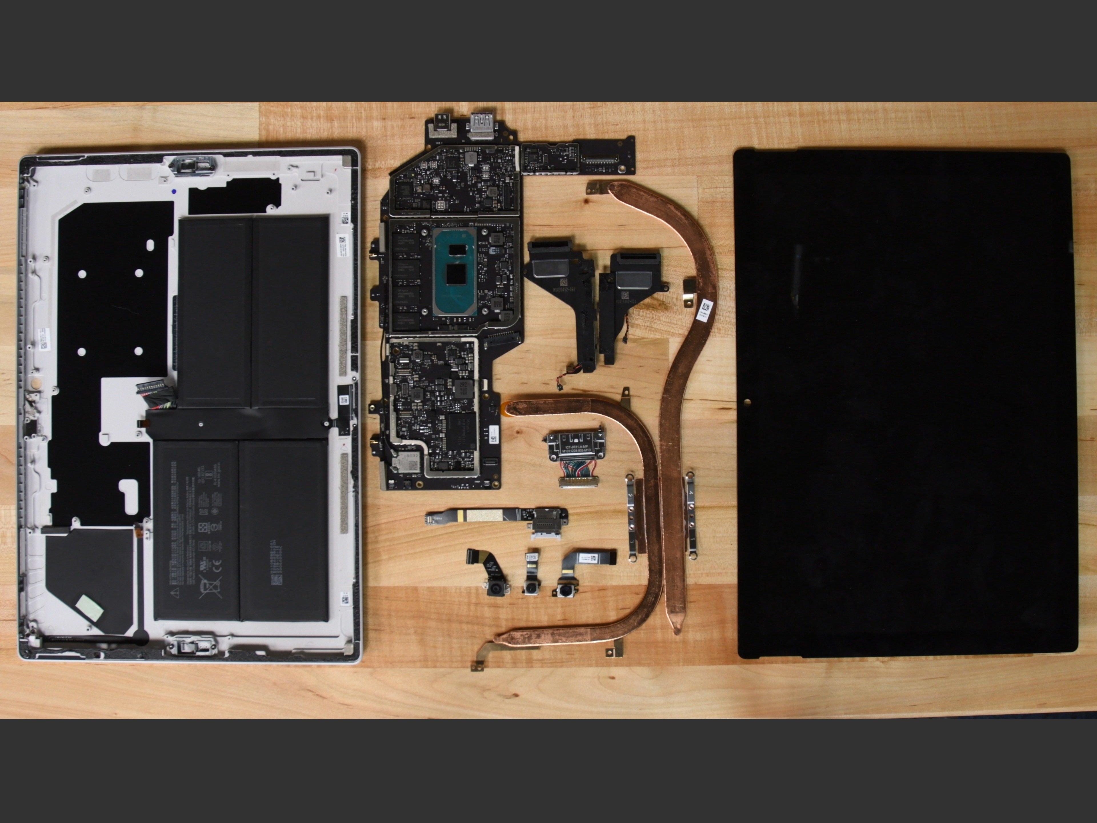 Microsoft Surface Pro 7の分解