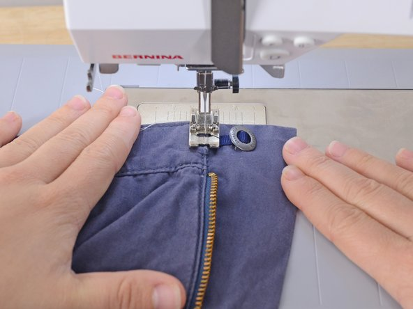 Image 2/2: Sew directly over the seam, closing the little pocket.