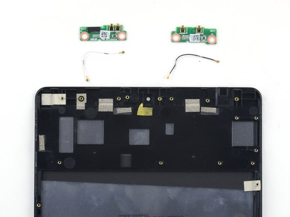 The final components off of the display assembly are two antenna boards with accompanying interconnect cables.