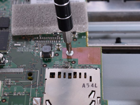 Use the PH1 screw driver to remove the three screws on the motherboard.