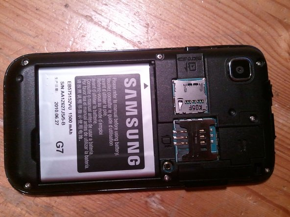Removing the boring stuff. Back cover, battery etc.