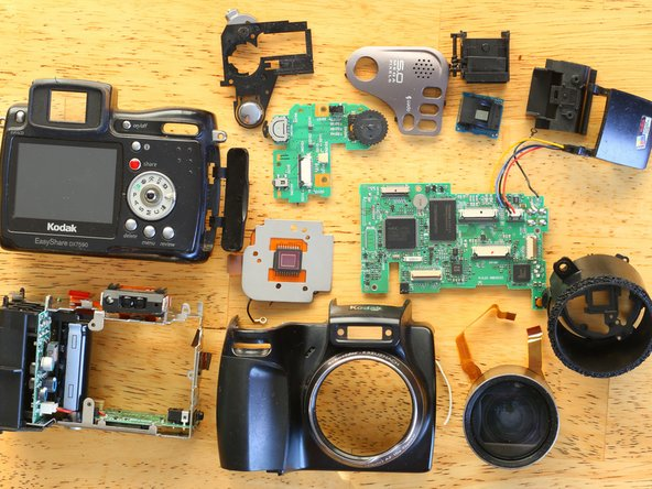 That's it folks! That's what a 16+ year old camera looks like on the inside.