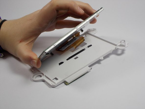 Separate the screen from the plastic casing.