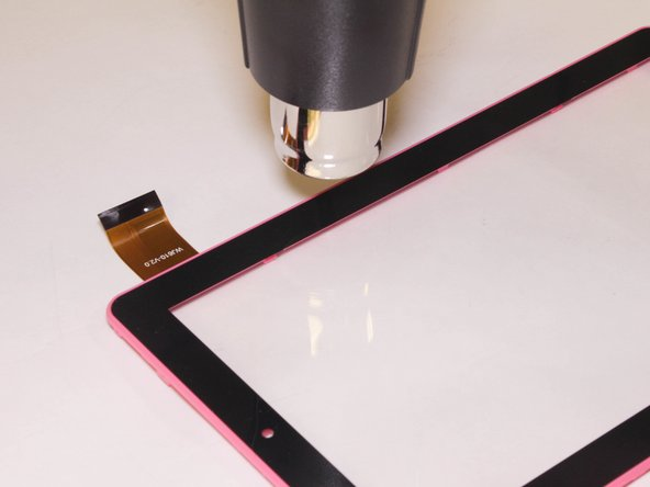With a heat gun, heat along the border of the screen and case to weaken the glue.