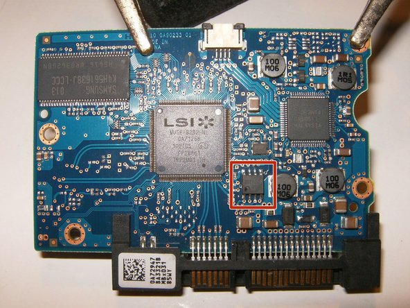 Image 3/3: Here is the new controller PCB with the BIOS IC that needs to be replaced.