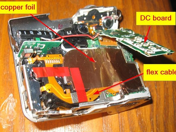 Canon PowerShot A610 stuck shutter reactivation