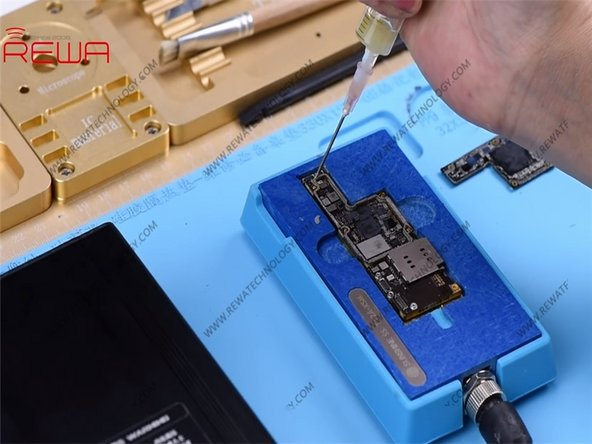 Now, we need to reball the lower layer. Once completed, solder the two layers together.