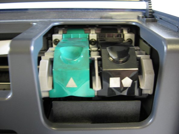 To maintain the ink cartridges, you simply wipe them down with a soft, clean cloth.
