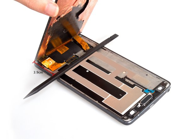 Notice 4: Pay attention to the part with LCD screen flex. When you cut the adhesive, leave the top part alone to avoid damage the flex. But if it's the broken screen, you don't need to worry so much.